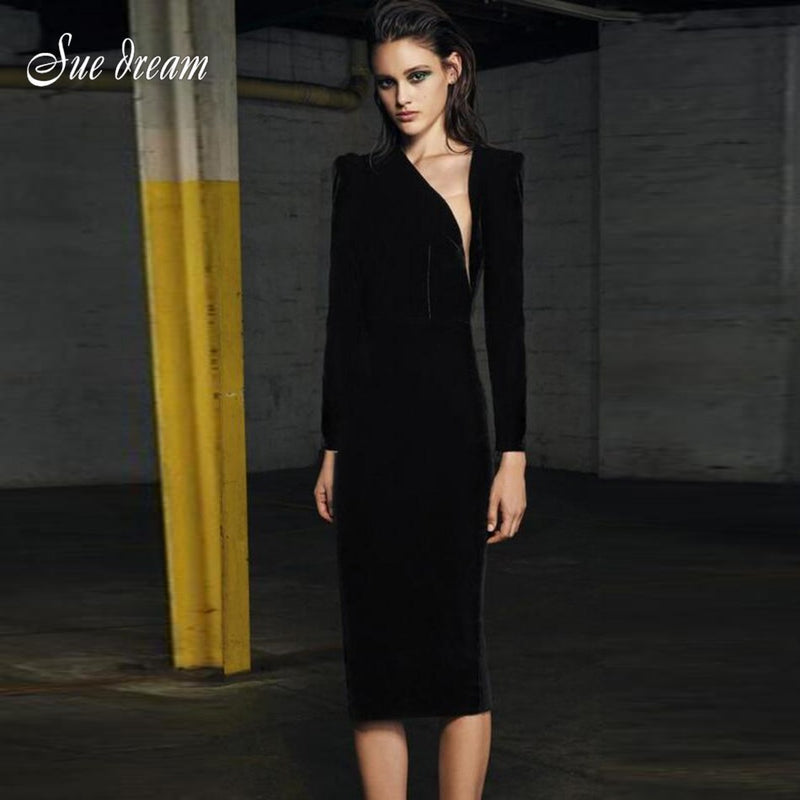 2018 Autumn new women long sleeve o neck bandage dress sexy sheath mesh dress celebrity party elegant black dresses vestidos