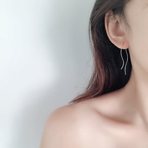 YUN RUO 2018 New Arrival Fashion Simple Tassel Stud Earring Line Rose Gold Color Woman Gift Titanium Steel Fine Jewelry Not Fade