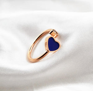 2018 Adjust Heart Crystal Rings Rose Gold Color Lady's Wedding Ring Birthday Gift