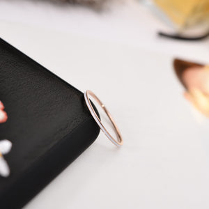Modern Fashion Super Thin Wide 1 MM Tail Ring Lady's Gift for Woman Rose Gold Color