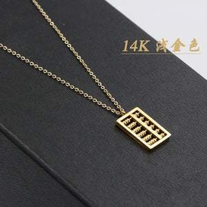 2018 New Arrival Rose Gold Color Personality Fashion Abacus Pendant Necklace gold plated Jewelry