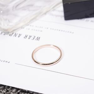 YUN RUO Rose Gold Silver Color Finger Ring for Woman Man Wedding Jewelry 316L Stainless Steel High Polished Top Quality Not Fade