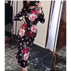 Summer Vintage Black Floral Embroidery Long Dress Women 2018 Runway Long Sleeve Sexy Evening Party Club Dresses Bodycon Vestidos