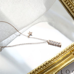 2018 New Rose Gold Color Luxury Qualities Fashion Red Heart Pendant Necklace gold plated