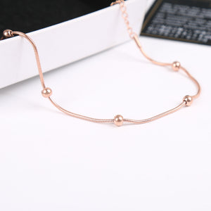 YUNRUO 2017 Fashion Brand Rose Gold Silver Color Bracelet Snake Chain for Woman Charm 316L Stainless Steel Jewelry Prevent Fade