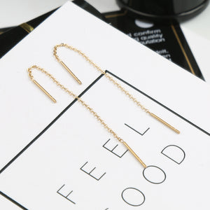YUN RUO Anti-allergy Rose Gold Silver Color Simple Earring Line 316 L Stainless Steel Jewelry Fashion Woman Stud Earring Gift