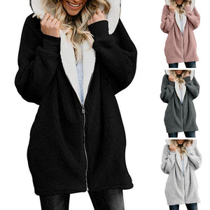Women's hoodie winter jacket