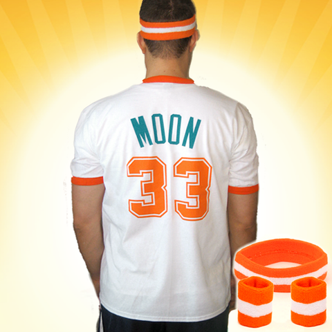 7e6da691ff69 Jackie Moon T-Shirt Set - Flint Tropics  33 Jersey Shirt   Sweatbands