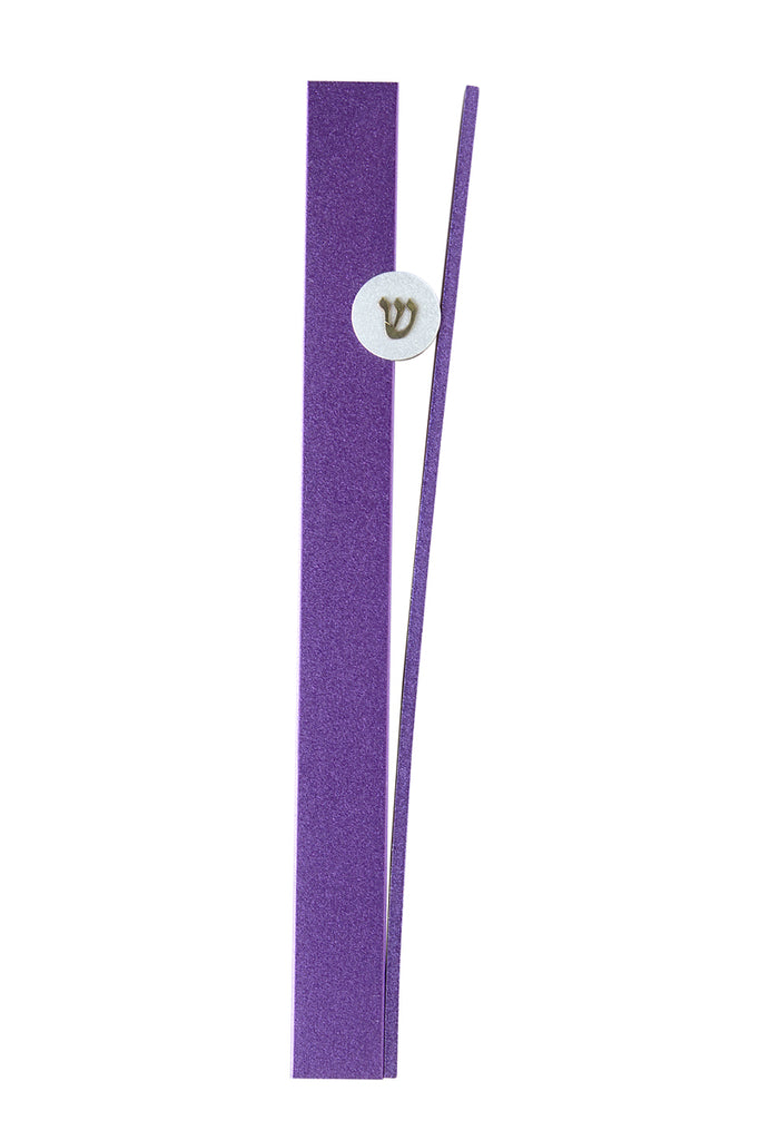 """V"" Mezuzah Purple"