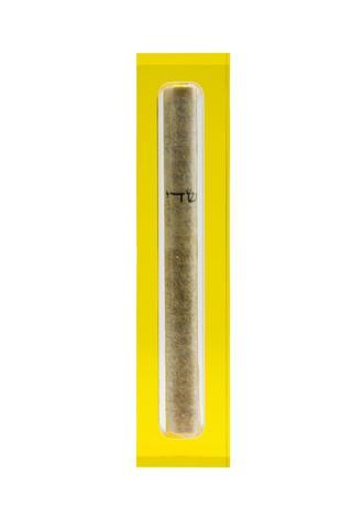 The Lucite Mezuzah Small Yellow