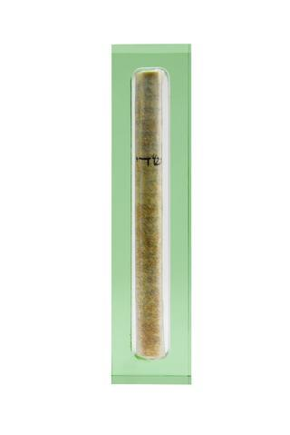 The Lucite Mezuzah Small Olive