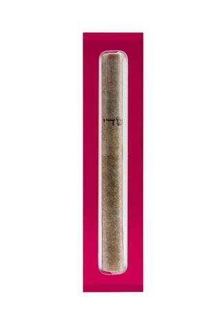 The Lucite Mezuzah Small Red
