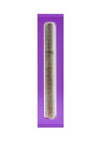 The Lucite Mezuzah Small Violet