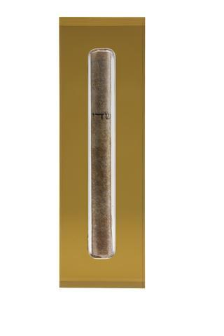 The Lucite Mezuzah Medium Honey