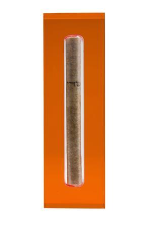 The Lucite Mezuzah Medium Orange