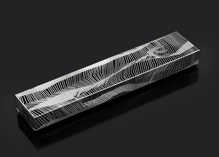 Lines Mezuzah Black Background Detail