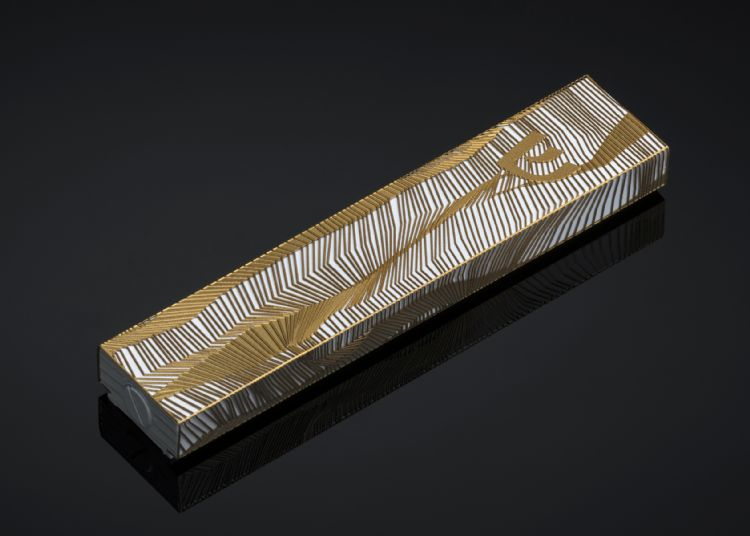 Lines Mezuzah Gold Series