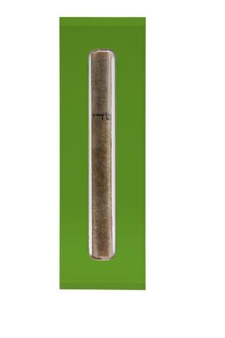 The Lucite Mezuzah Medium Emerald