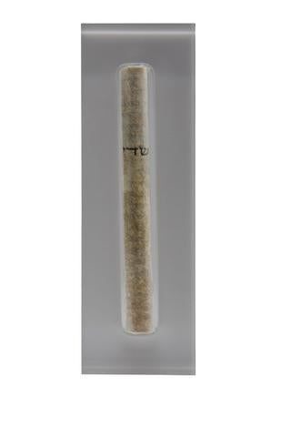 The Lucite Mezuzah Medium Grey