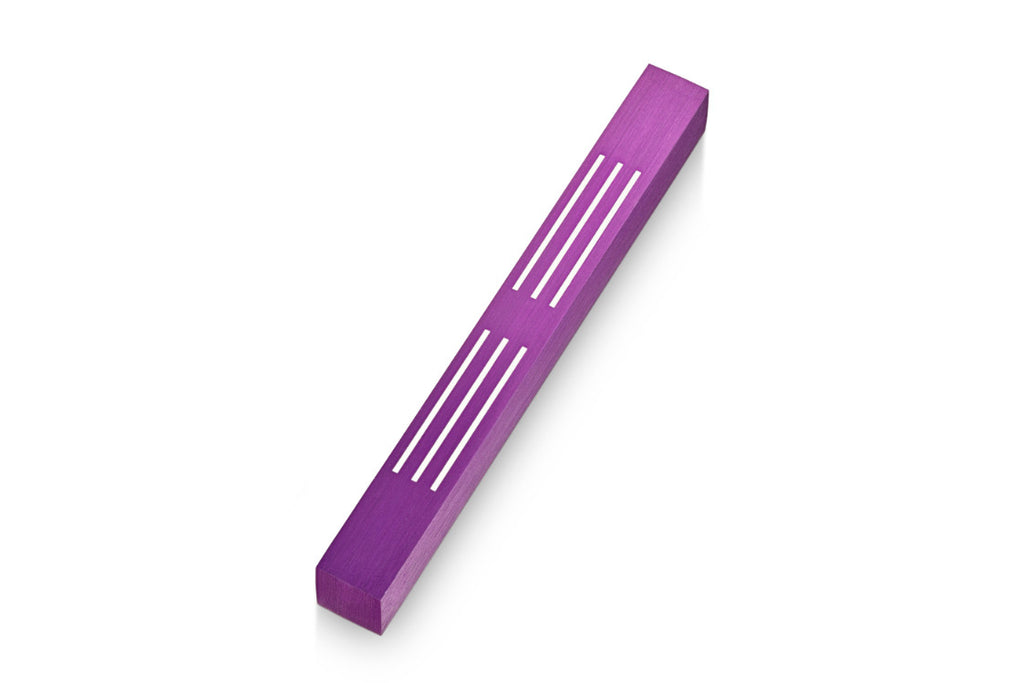 Purple Lines Mezuzah