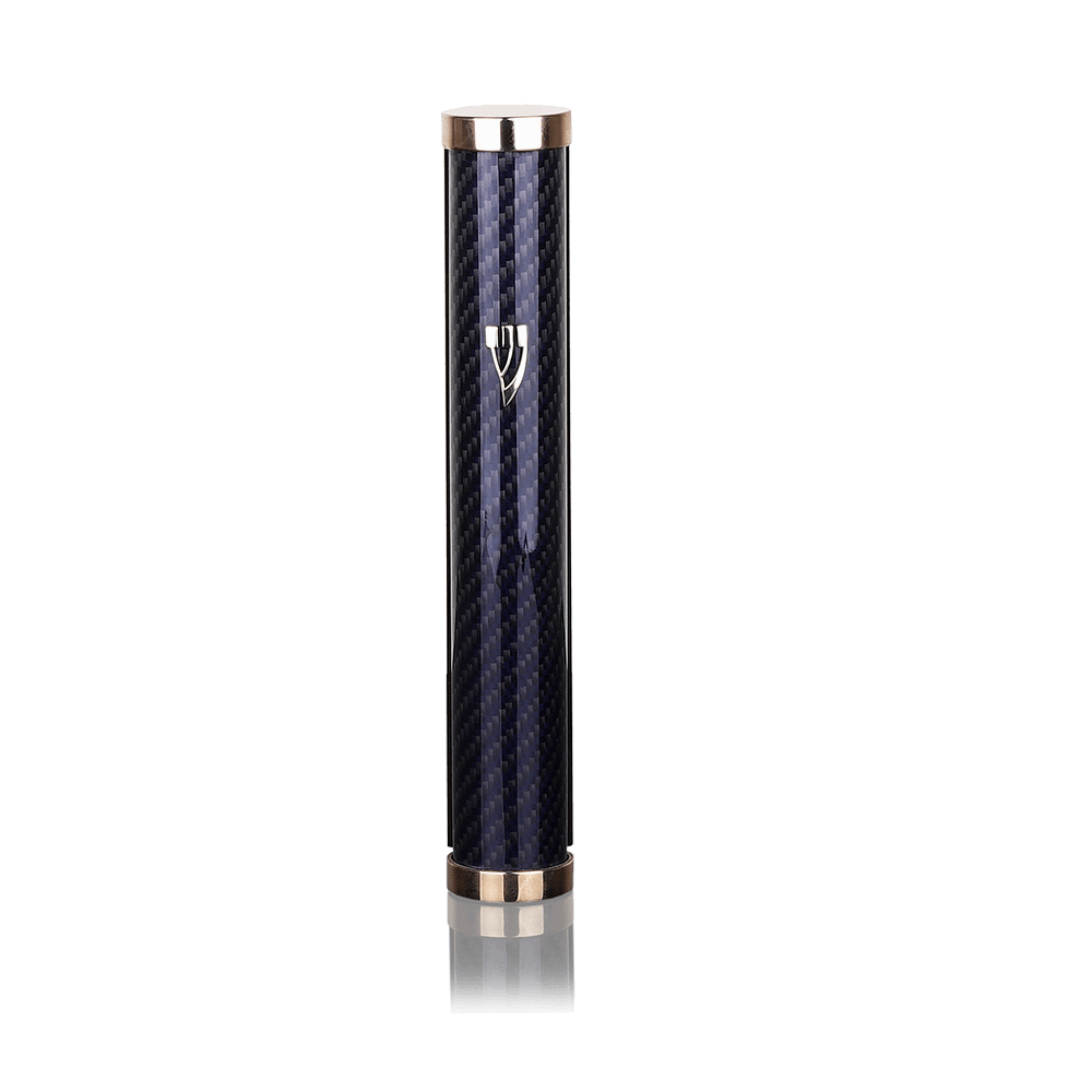 Mezuzah Jerusalem Carbon Blue