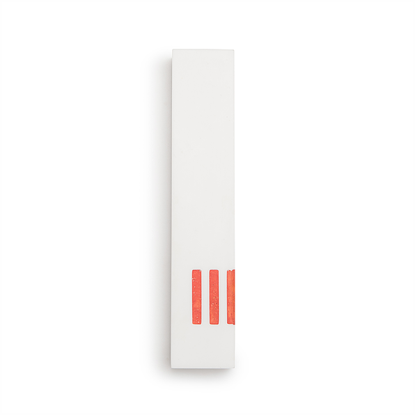 MEZUZAH | White Narrow | (ש) Side - Orange