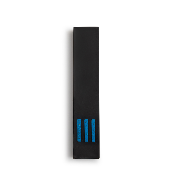 MEZUZAH | Black Narrow | (ש) Middle - Blue