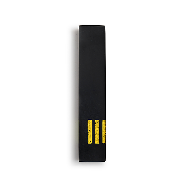 MEZUZAH | Black Narrow | (ש) Side - Yellow