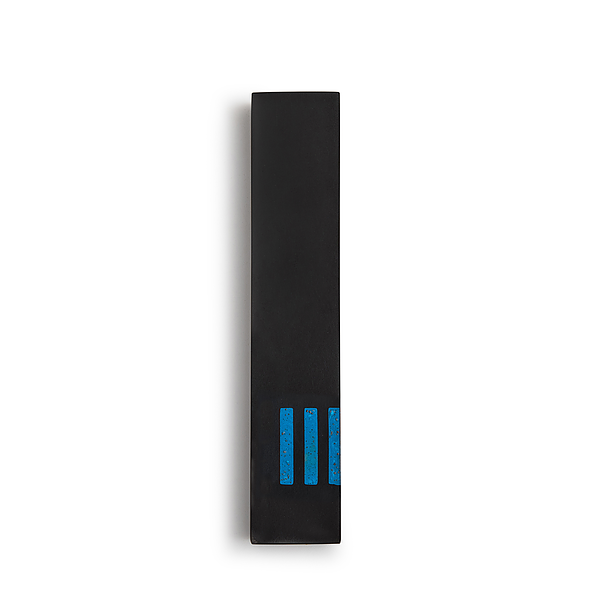 MEZUZAH | Black Narrow | (ש) Side - Blue