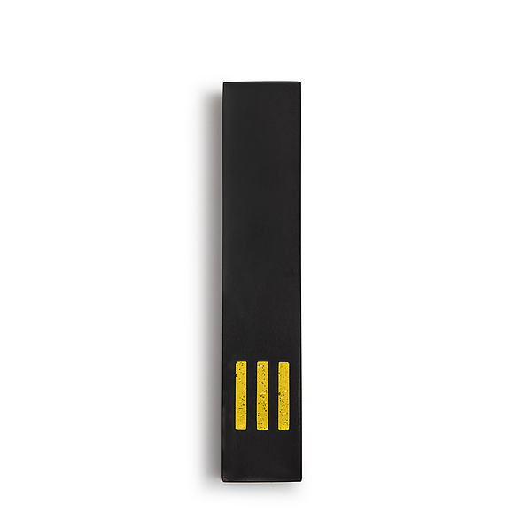 MEZUZAH | Black Narrow | (ש) Middle - Yellow