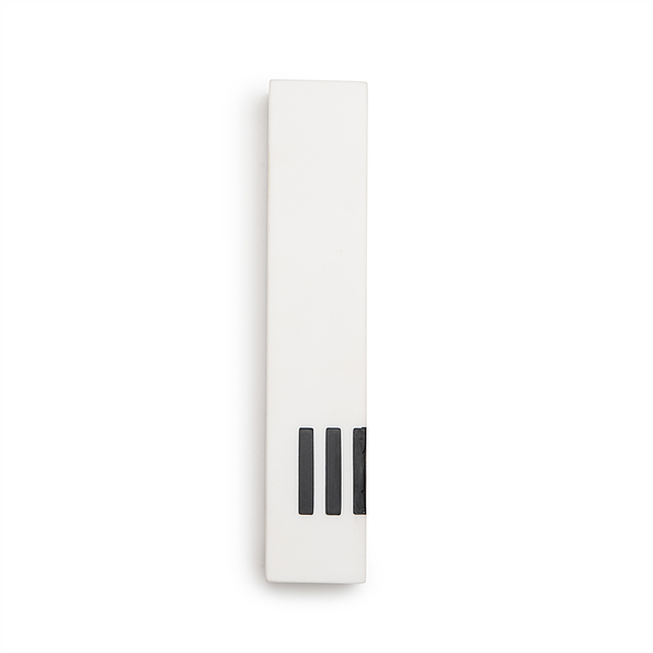 MEZUZAH | White Narrow | (ש) Side - Black