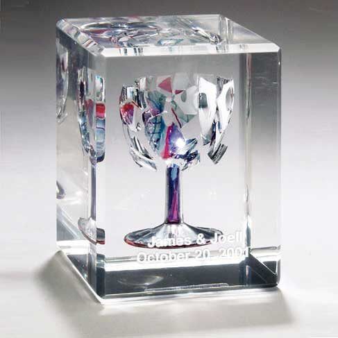 Rectangular Wedding Glass Lucite Cube