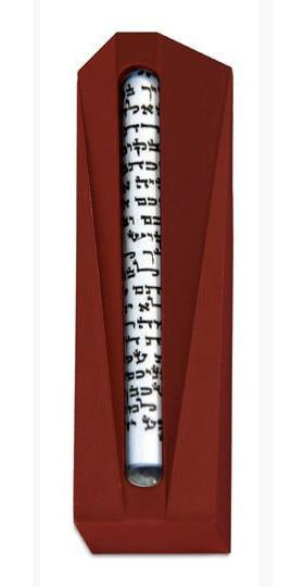 "Koral Mezuzah 8"" Red"