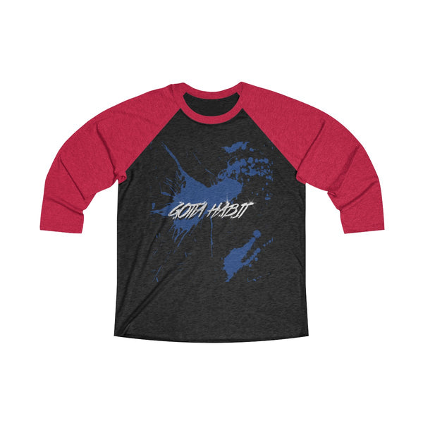 Gotta Habit Merch Blue Long Sleeve Raglan