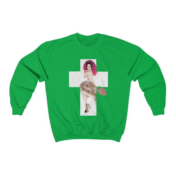 Cross 2X With Detox Lips Sweatshirt