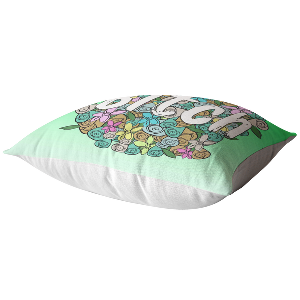 Bitch Green Pillow