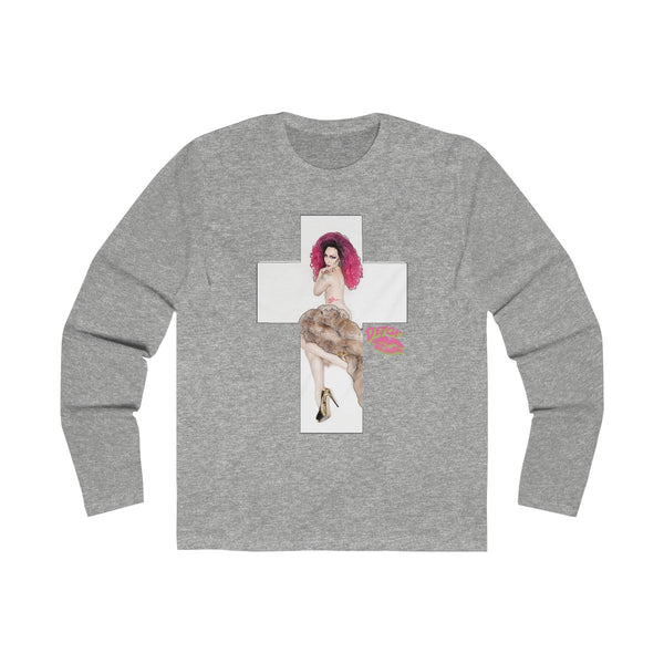 X Cross With Detox Lip' Long Sleeve Tee