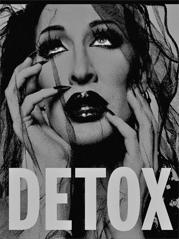 black and silver detox the drag queen poster