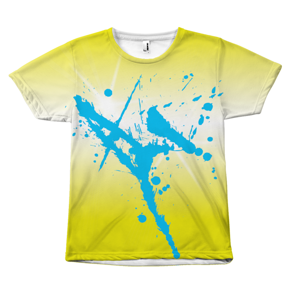 T-Blue Spray Yellow