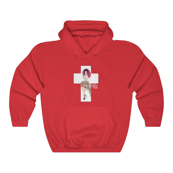 X Cross With Detox Lip' Hoodie