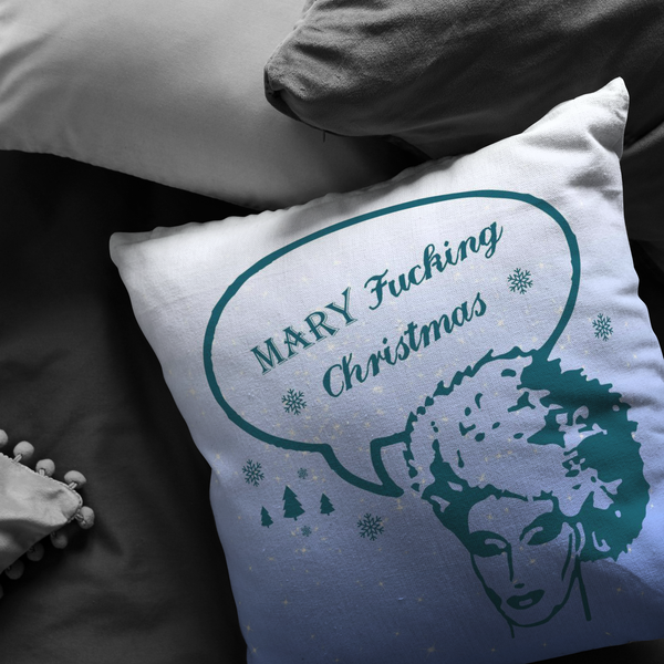 Mary Fucking Christmas3 Pillow