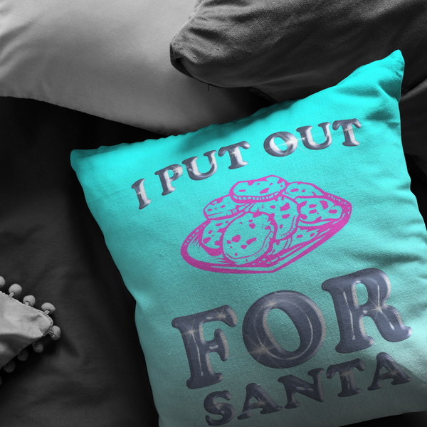 I Put Out For Santa Pillow
