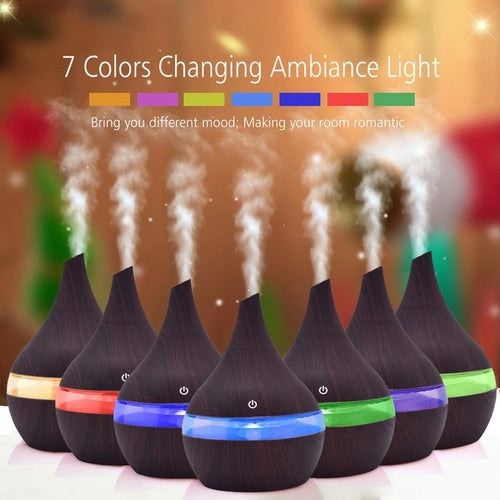 7 Color Changing LED Lights Air Aroma Essential