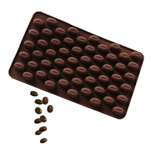 Coffee Bean Chocolate Candy Silicone Bakeware