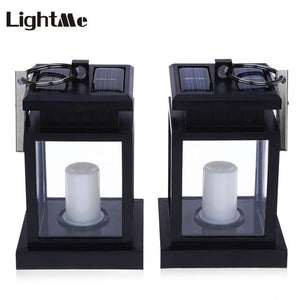 Lightme 2PCS Candle Lantern Solar Power LED Lamp
