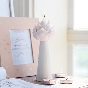 Candlestick Ceramic Candle Holders Pink Lotus