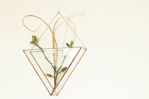 Geometric copper glass wall terrarium-Indoor wall