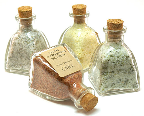 Flavored Sea Salt Set, 4 Gourmet Sea Salt Blends