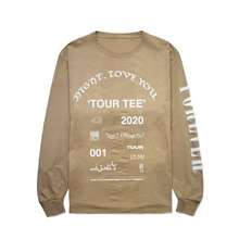 Load image into Gallery viewer, 2020 TOUR LONG SLEEVE TEE TAN