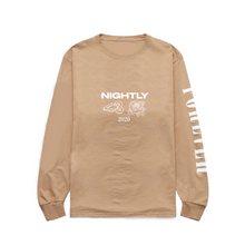 Load image into Gallery viewer, tan 2020 tour long sleeve tee